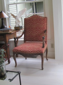 Animal Print Upholstered Martha Washington Chair