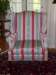 Striped Wing Chair