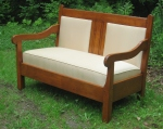 Gustav Stickley Settee restoration