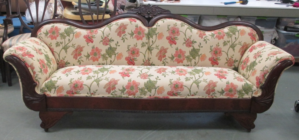 Empire Sofa complete restoration with 8 way hand tied springs the old  fashioned way!